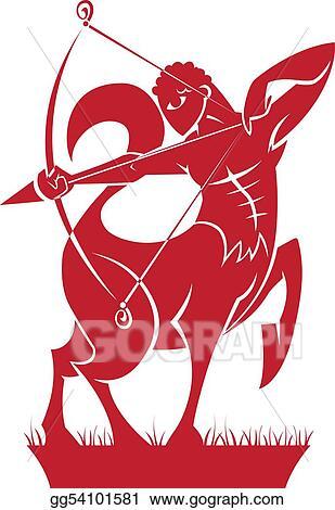 Drawings Sagittarius Zodiachoroscope Symbol Stock Illustration