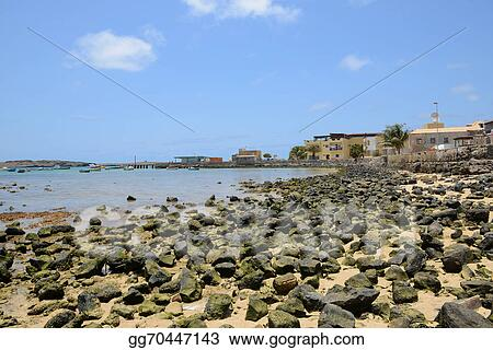 Stock Illustration Sal Rei Harbour Boa Vista Cape Verde Clip