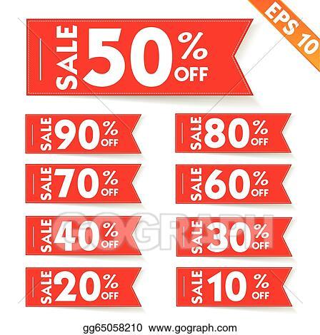 Vector Illustration - Sale percent sticker price tag