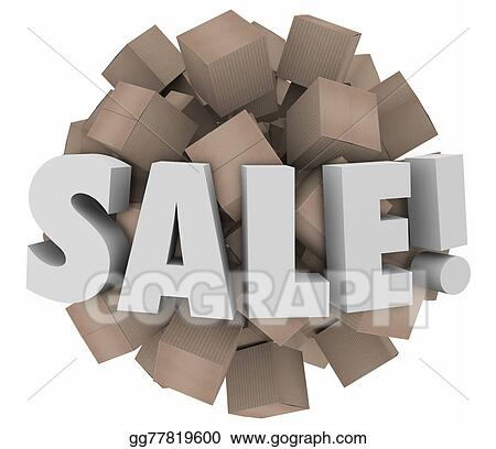Sale Word Cardboard Boxes Inventory Overstock Wholesale Clearance