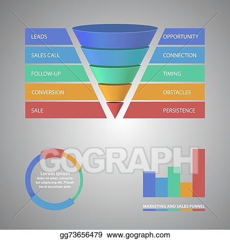 vector stock sales funnel template for your business presentation