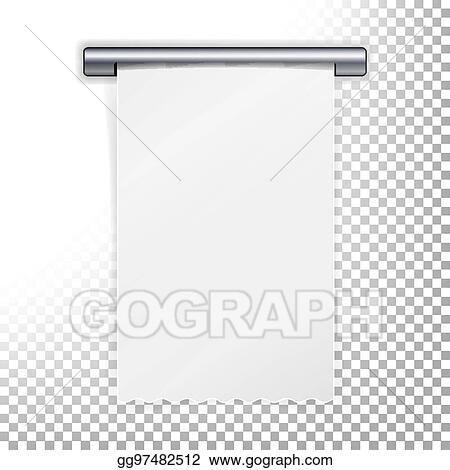 Vector Art Sales Printed Receipt Vector Bill Atm Template A