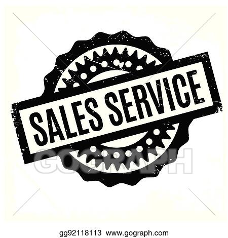 EPS Vector - Sales service rubber stamp  Stock Clipart