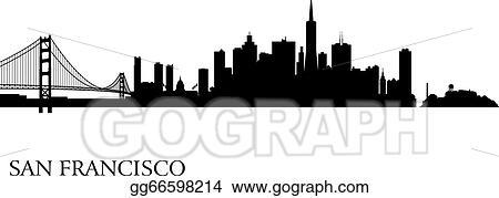 vector illustration san francisco city skyline silhouette