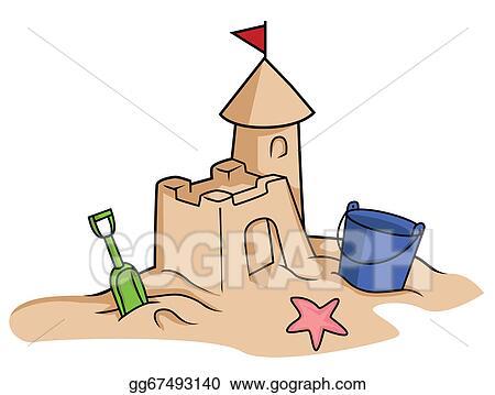 vector stock sand castle clipart illustration gg67493140 gograph rh gograph com sand castle clip art black and white sand castle clip art black and white