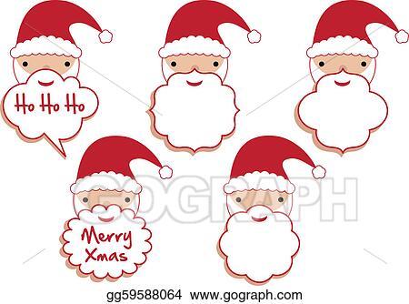 Vector Stock Santa Beard Frames Stock Clip Art Gg59588064 Gograph