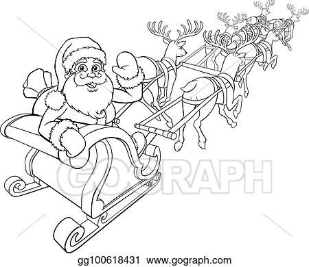 reindeer pulling sleigh coloring pages - photo#35