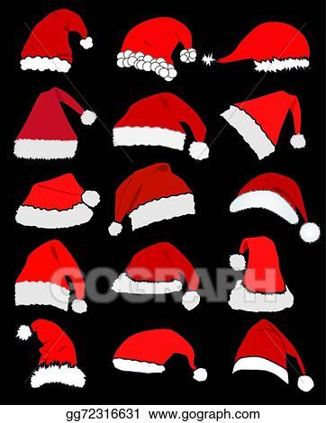Vector Art Santa Claus Hat Clipart Drawing Gg72316631
