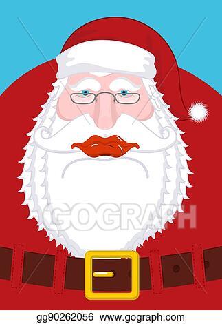 Eps Illustration Santa Claus Portrait Christmas Grandpa With