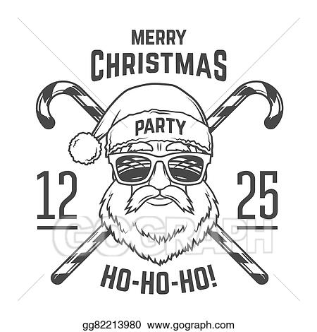 santa claus with hipster glasses and candy cones print design vintage disco insignia christmas old man portrait rock and roll logo new year t shirt