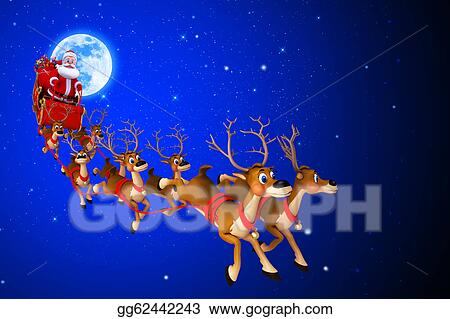 drawing santa claus with his sleigh clipart drawing gg62442243