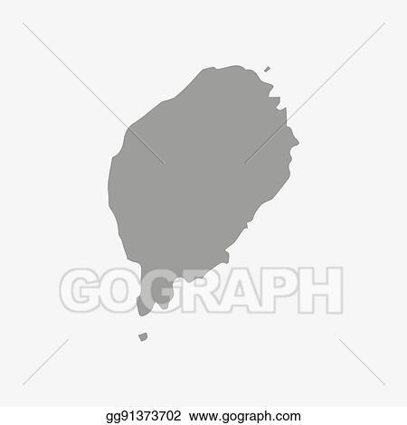 EPS Illustration - Sao tome and principe map in gray on a ... on eritrea map, hong kong map, u.a.e. map, saudi arabia map, seychelles map, trinidad & tobago map, united arab emirates map, tanzania map, central african republic map, principe island map, bangladesh map, comoros map, tunisia map, niue map, honshu island map, tokelau map, sri lanka map, lesotho map, new britain island map,