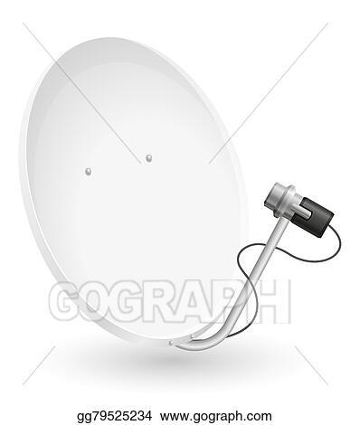 vector clipart satellite dish vector illustration vector Satellite Dish Strut satellite dish vector illustration
