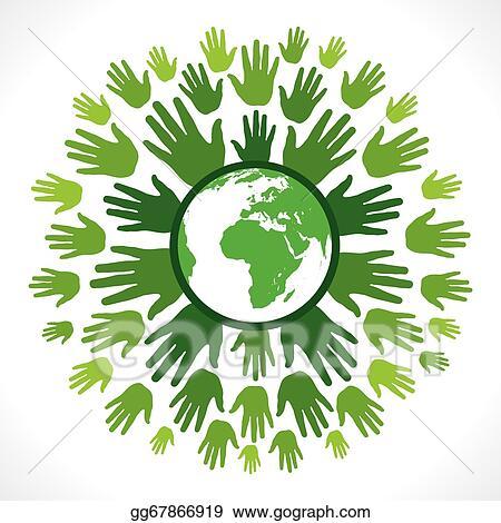 Vector Clipart Save Earth Concept Vector Illustration Gg67866919