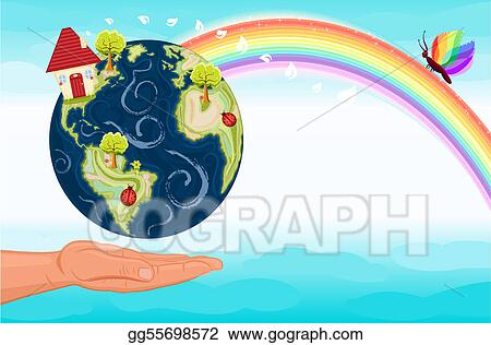 Vector Illustration Save Our Green Planet Stock Clip Art