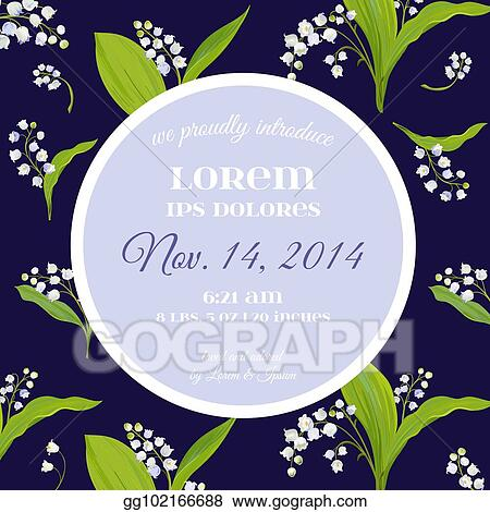Eps vector save the date card with spring lily of the valley save the date card with spring lily of the valley flowers wedding invitation anniversary party rsvp floral template vector illustration mightylinksfo