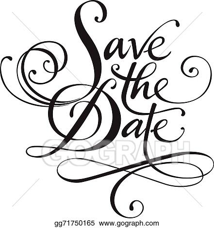 vector stock save the date clipart illustration gg71750165 gograph