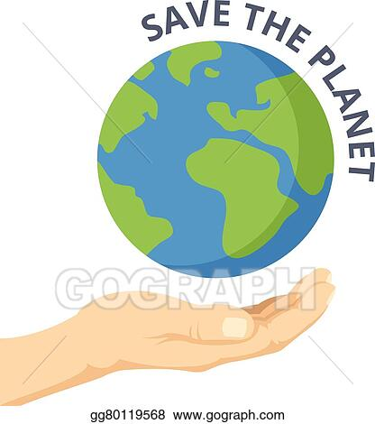 Amazing Save The Planet. Hand Palm, Earth