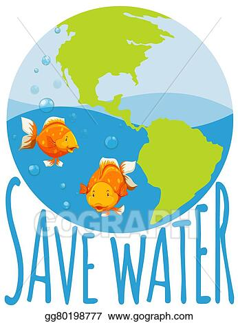 eps illustration save water theme with goldfish swimming vector rh gograph com Urban Low-Income Housing Fence Clip Art
