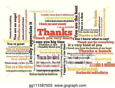 Thankyou Clip Art - Royalty Free - GoGraph