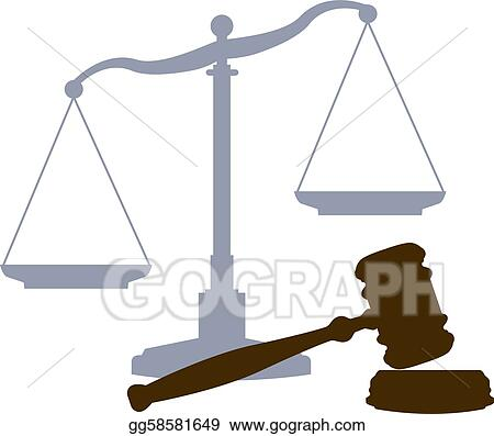 Vector Stock Scales Gavel Legal Justice Court System Symbols