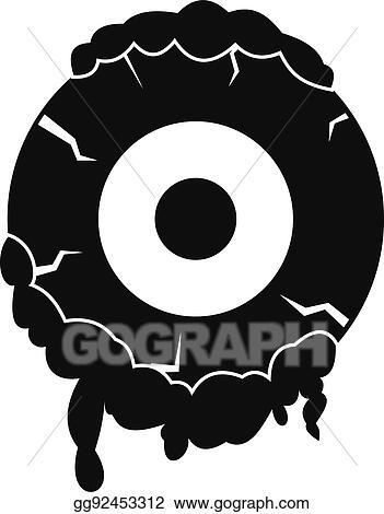 clip art vector scary eyeball icon simple style stock eps