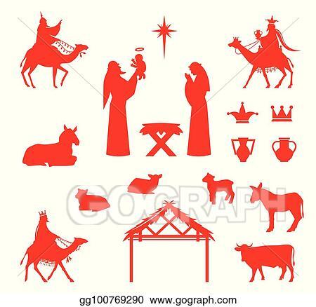 Scene Of Baby Jesus In The Manger