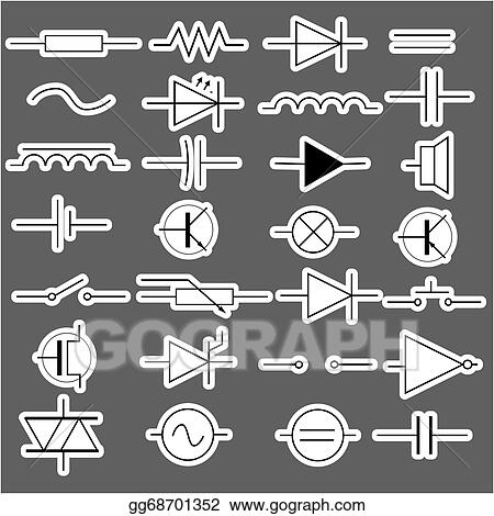 Vector Illustration - Schematic symbols in electrical engineering ...