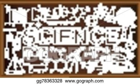 Vector Art School Board Doodle With Science Symbols Vector