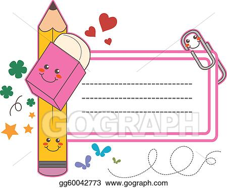 vector clipart school label sticker vector illustration rh gograph com name tag clipart black and white name tag border clipart