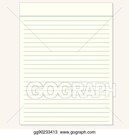 School Notebook Paper Sheet Exercise Book Page Background Lined Notepad Backdrop