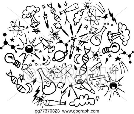 Vector Art Science Doodle Clipart Drawing Gg77370323 Gograph