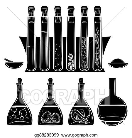 Science Lab Equipment Black Silhouettes
