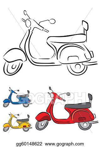 clip art vector scooter vector illustration stock eps gg60148622 gograph scooter vector illustration stock eps