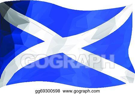 Vector Art Scottish Flag Clipart Drawing Gg69300598 Gograph