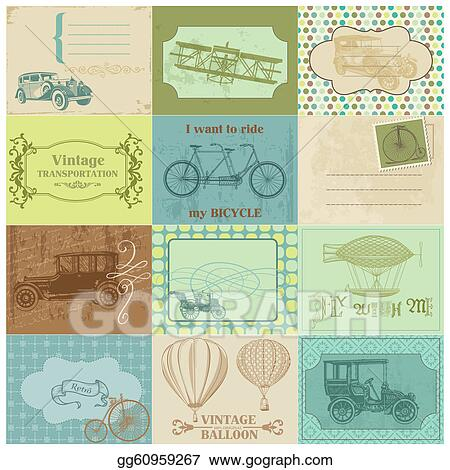Vector Clipart Scrapbook Paper Tags And Design Elements Vintage