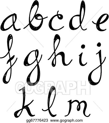 Vector Stock Script Alphabet A To M Clipart Illustration Gg67776423 Gograph