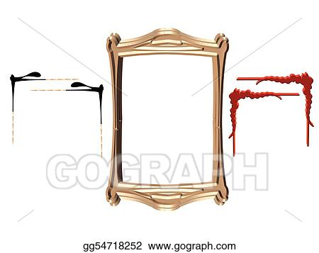 Clip Art Vector - Scroll designs frames and more in 3d. Stock EPS ...