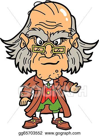 Christmas Carol Scrooge Clipart.Vector Illustration Scrooge Stock Clip Art Gg65703552
