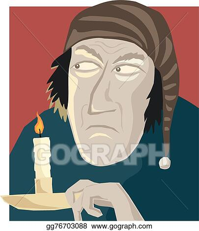 Christmas Carol Scrooge Clipart.Vector Illustration Scrooge Stock Clip Art Gg76703088