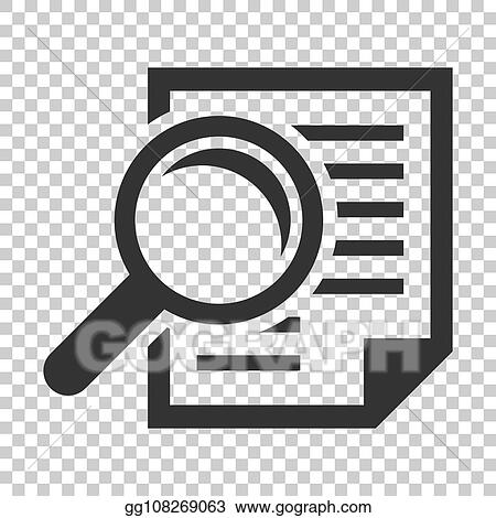 Clip Art Vector Scrutiny Document Plan Icon In Flat Style Review Statement Vector Illustration On Isolated Background Document With Magnifier Loupe Business Concept Stock Eps Gg108269063 Gograph