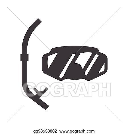 vector art scuba diving mask clipart drawing gg98533802 gograph