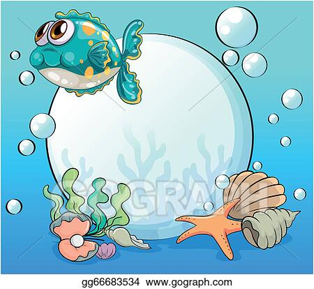 vector art sea creatures under the sea clipart drawing gg66683534