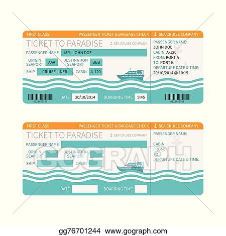 Sea Cruise Ship Boarding P Or Ticket Template