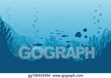 Under The Sea Background Marine Life Landscape - The Ocean And Underwater  World With Different Inhabitants. For Print, Crea Stock Illustration -  Illustration of color, flora: 103741201