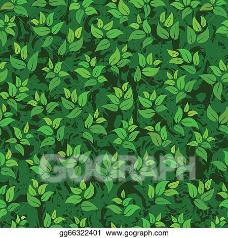 Eps Illustration Seamless Abstract Green Leaves Background