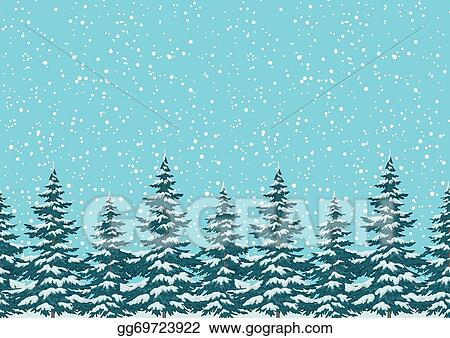 Christmas Trees Background Clipart.Eps Illustration Seamless Background Christmas Trees With