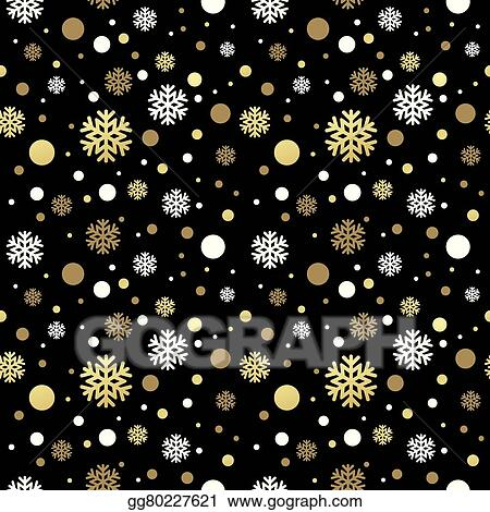 Clip Art Vector Seamless Black Christmas Wallpaper With