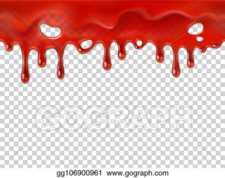 Vector Art - Seamless dripping blood. halloween red bleed ...