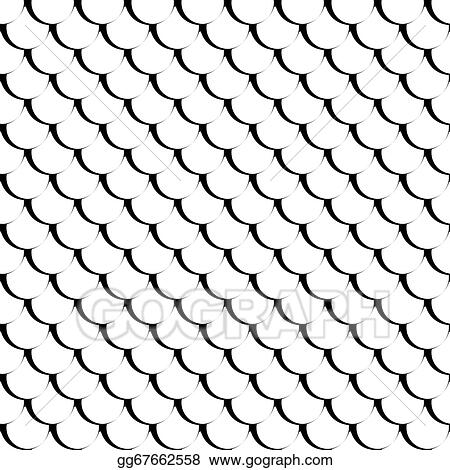 Vector Art - Seamless fish scales texture    Clipart Drawing